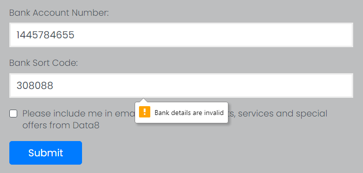 Marketo Bank Validation